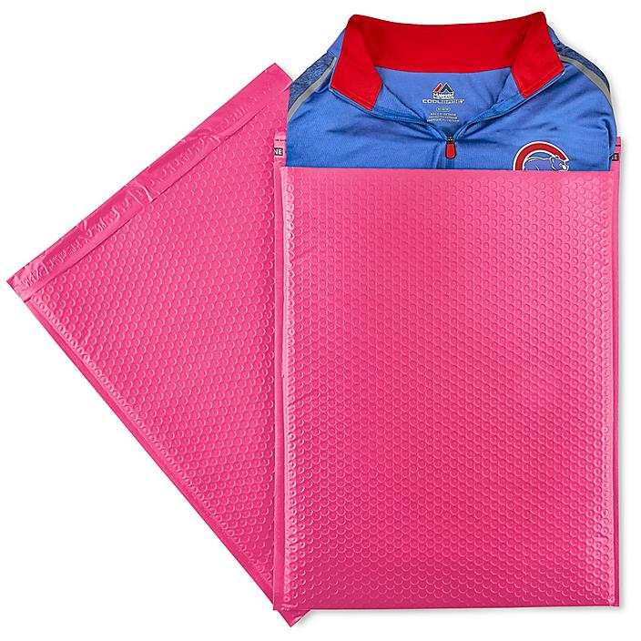 """Uline Economy Colored Poly Bubble Mailers #7 - 14 1/4 x 20"""", Pink S-22945P"""