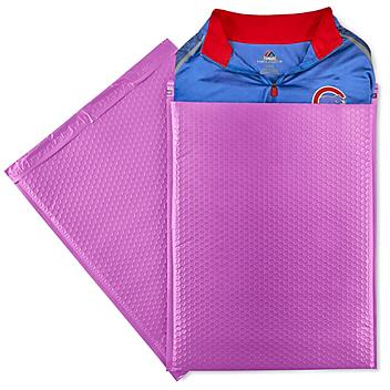 """Uline Economy Colored Poly Bubble Mailers #7 - 14 1/4 x 20"""", Purple S-22945PUR"""