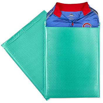 """Uline Economy Colored Poly Bubble Mailers #7 - 14 1/4 x 20"""", Teal S-22945T"""