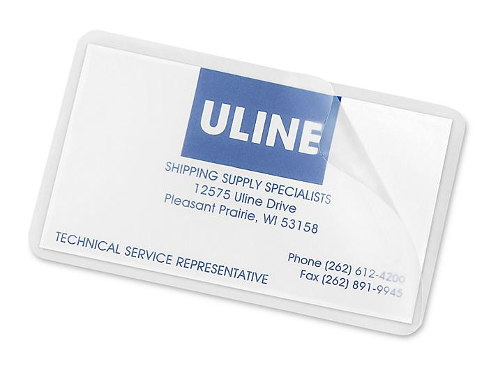 Business Card Size Laminating Pouches - Matte, 5 Mil S-22951