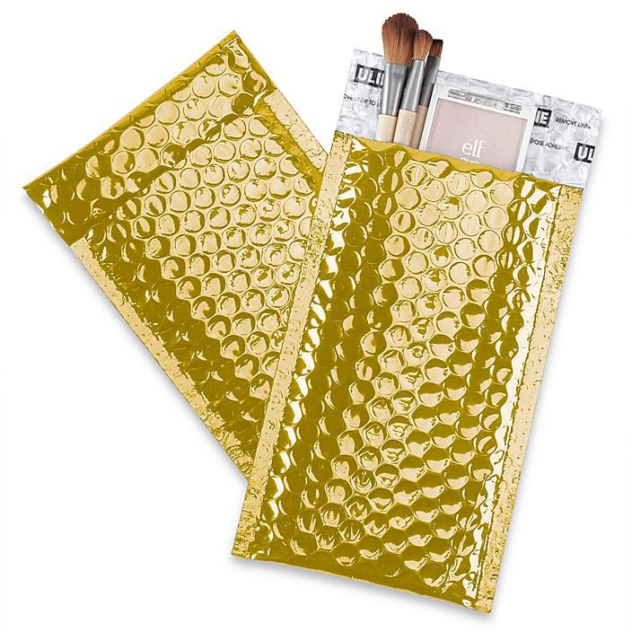 """Glamour Bubble Mailers - 5 x 8 1/4"""", Gold S-22954GOLD"""