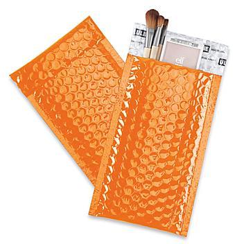 "Glamour Bubble Mailers - 5 x 8 1/4"", Orange S-22954O"