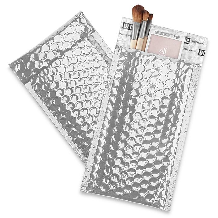"""Glamour Bubble Mailers - 5 x 8 1/4"""", Silver S-22954SIL"""