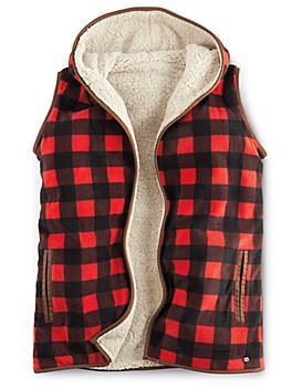 Women's Plaid Fleece Vest - Medium S-22957-M