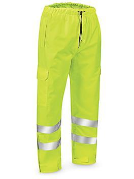 Class 3 Hi-Vis Lightweight Rain Pants - Lime, Large S-22971G-L