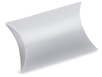 """Pillow Boxes - 3 1/2 x 3 x 1"""", Silver S-23000SIL"""