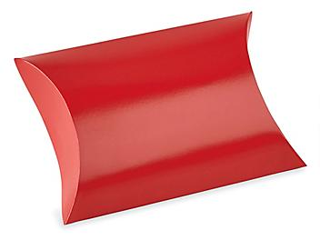 """Pillow Boxes - 4 1/2 x 4 1/2 x 1 1/2"""", Red S-23001R"""