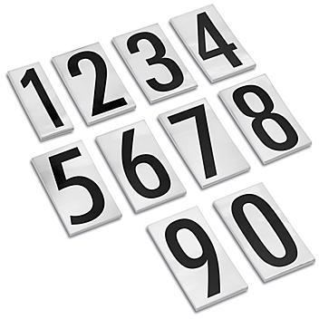 """Standard Outdoor Vinyl Labels - 3 1/2"""" Numbers S-23002"""