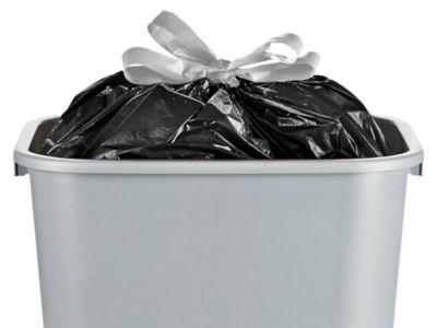 Drawstring Trash Liners - .7 Mil, 4 Gallon, Black