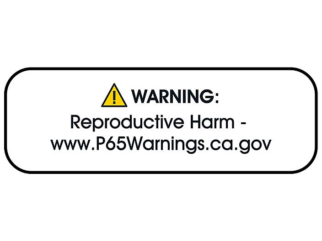 "California Prop 65 Labels - ""Warning: Reproductive Harm"", 3 x 1"" S-23055"