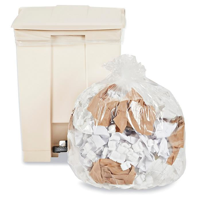 Uline Industrial Trash Liners - 20-30 Gallon, .75 Mil, Clear S-23073