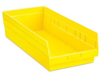"""Plastic Shelf Bins - 11 x 24 x 6"""", Yellow S-23086Y"""