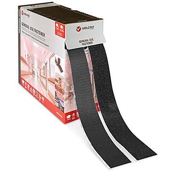 """Velcro® Brand Combo Strips Bulk Pack - 2"""" x 75', Black S-23102BL"""
