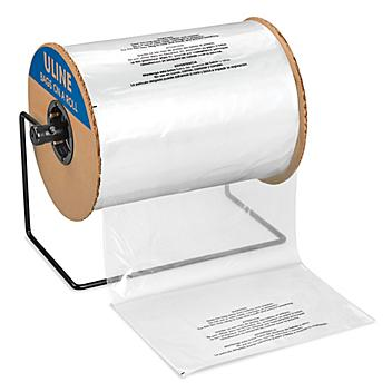"""Suffocation Warning Bags on a Roll - 1.5 Mil, 12 x 18"""" S-23114"""