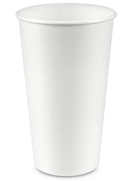 Uline Paper Hot Cups - 20 oz, White S-23127W