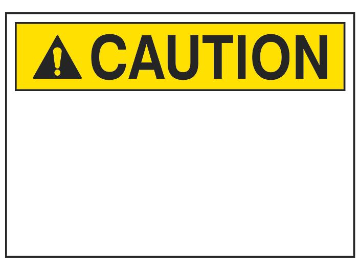 """""""Caution"""" Write-On Blank Safety Sign - Vinyl, Adhesive-Backed S-23130V"""