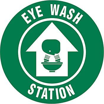 """Anti-Slip Floor Sign - """"Eye Wash Station"""", 17"""" Diameter S-23151"""