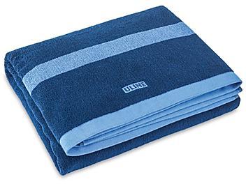 Beach Towel - Light Blue Border S-23277BLU-B