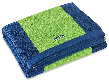 Beach Towel - Lime/Navy Stripe S-23277G-S