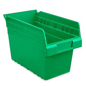"""Plastic Shelf Bins - 7 x 12 x 8"""", Green S-23364G"""