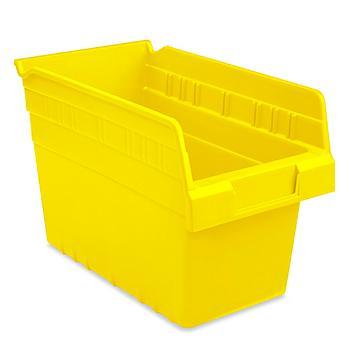"""Plastic Shelf Bins - 7 x 12 x 8"""", Yellow S-23364Y"""