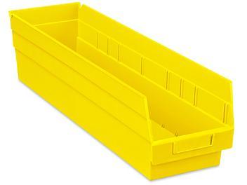 """Plastic Shelf Bins - 7 x 24 x 6"""", Yellow S-23366Y"""