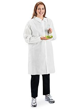 Uline Industrial Lab Coat with No Pockets - 3XL S-23370-3X