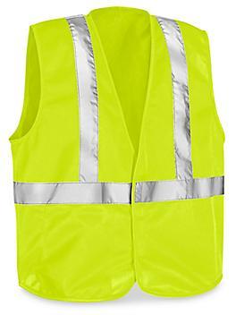 Class 2 Solid Hi-Vis Safety Vest - Lime, 4XL/5X S-23373G-4X
