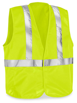 Class 2 Solid Hi-Vis Safety Vest - Lime, L/XL S-23373G-L