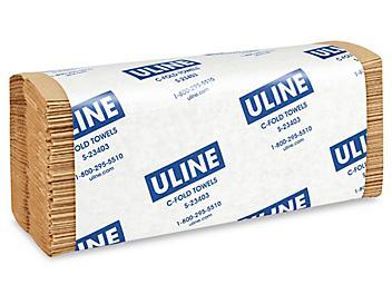 Uline Kraft C-Fold Towels S-23403