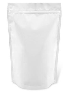 """Matte Stand-Up Barrier Pouches - 7 x 11 1/2 x 4"""", White S-23415W"""