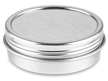 Screw-Top Metal Tins - 1 oz, Shallow S-23418