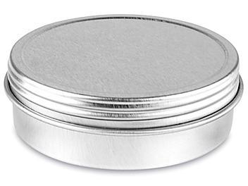 Screw-Top Metal Tins - 2 oz, Shallow S-23419