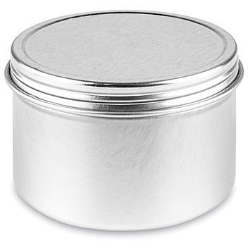 Screw-Top Metal Tins - 4 oz, Deep S-23420