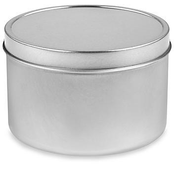 Deep Metal Tins - Round, 16 oz, Solid Lid S-23423