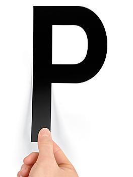 """8"""" Single Letter Die-Cut Labels - """"P"""" S-23449-P"""