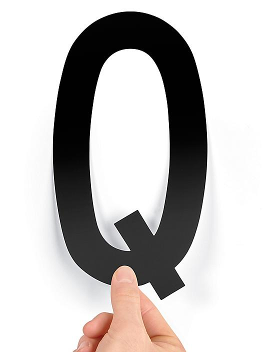 """8"""" Single Letter Die-Cut Labels - """"Q"""" S-23449-Q"""