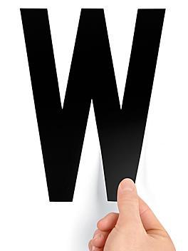 """8"""" Single Letter Die-Cut Labels - """"W"""" S-23449-W"""