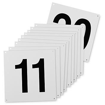 """Indoor Dock Door Signs - 12 x 12"""", 11-20 S-23468-11"""