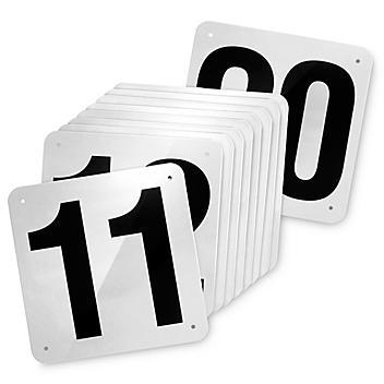 """Outdoor Dock Door Signs - 18 x 18"""", 11-20 S-23469-11"""