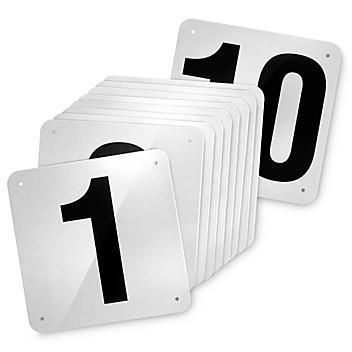 """Outdoor Dock Door Signs - 18 x 18"""", 1-10 S-23469-1"""