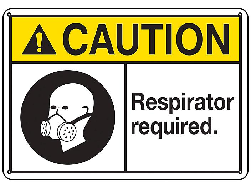 """Respirator Required"" Sign - Plastic S-23483P"