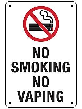 """""""No Smoking No Vaping"""" Sign - Aluminum S-23486A"""
