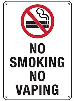 """""""No Smoking No Vaping"""" Sign - Plastic S-23486P"""
