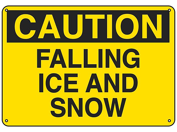 """""""Falling Ice And Snow"""" Sign - Plastic S-23487P"""