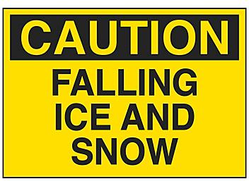 """""""Falling Ice And Snow"""" Sign - Vinyl, Adhesive-Backed S-23487V"""