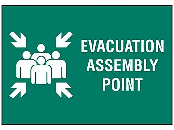 """""""Evacuation Assembly Point"""" Sign"""