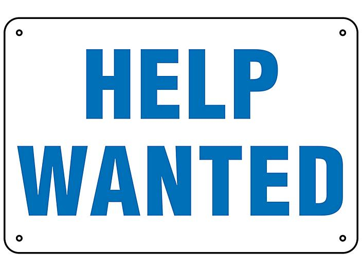 """""""Help Wanted"""" Sign - Aluminum S-23492A"""