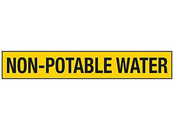 """""""Non-Potable Water"""" Pipe Markers - 2 1/2 - 7 7/8"""" Pipe Diameter S-23496-2"""
