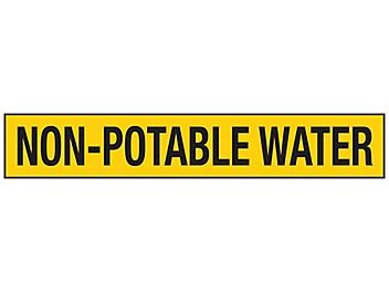 """""""Non-Potable Water"""" Pipe Markers - 8""""+ Pipe Diameter S-23496-3"""